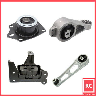Motor & Trans Mount 4PCS for 2003-2008 Chrysler PT Cruiser 2.4L Turbo Auto Trans 2003 Chrysler Pt Cruiser Auto