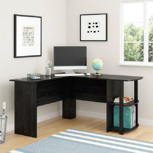 Ameriwood L-Shaped Office Desk with Side Storage, Multiple F