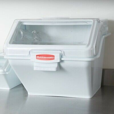 Rubbermaid Commercial Prosave Shelf Ingredient Bin With Scoop 200-cup White