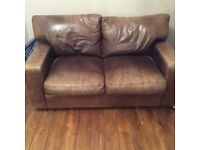 Leather sofa. FREE TO COLLECT