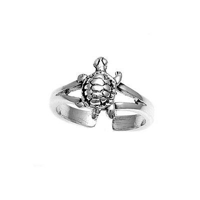Zehenring Fußschmuck Damen Herren verstellbar Sterling Silber Schildkröte
