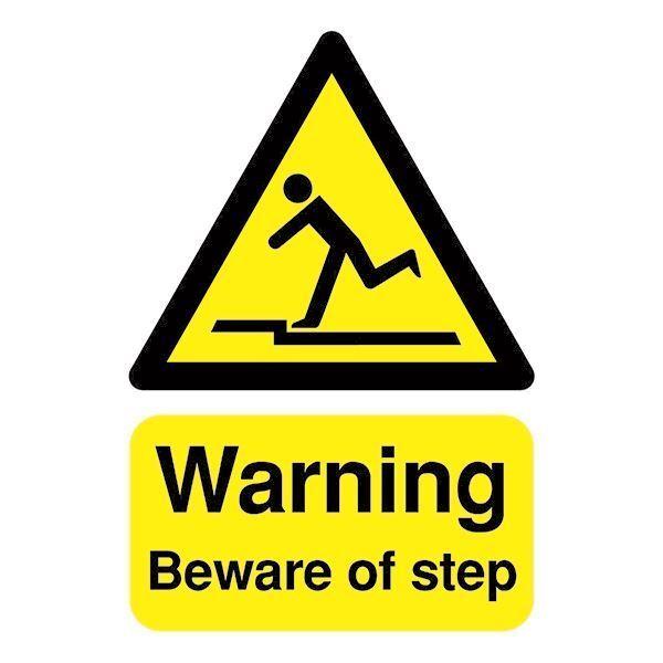 Safety Sign Warning Beware of Step A5 PVC HA21451R [SR11198]