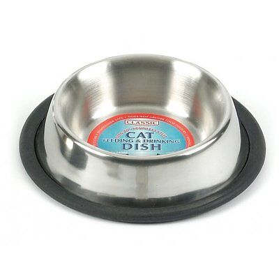 Classic Stainless Steel Non-Tip Cat Bowl 6.25