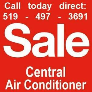 A/C air conditioner AC furnace CENTRAL AIR gas FURNACES saleSALE