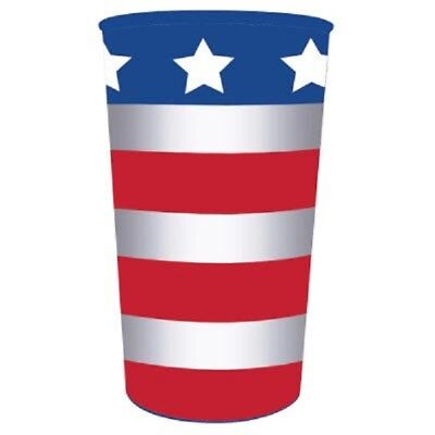 Patriotic July 4th Party AMERICAN USA FLAG PLASTIC SOUVENIR CUPS Dishwasher Safe