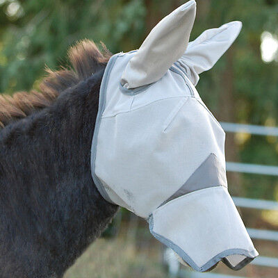 CASHEL FLY MASK STANDARD HORSE LONG COVERS NOSE EARS MULE RIDING SUN PROTECTION