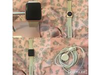 42mm Rose Gold Apple Watch Sport Stone Strap