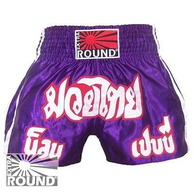 Short Boxe Thaïlandaise Muay Thai Kick Boxing K1 polyester Extra Round  (Boxing Shorts Kostüm)