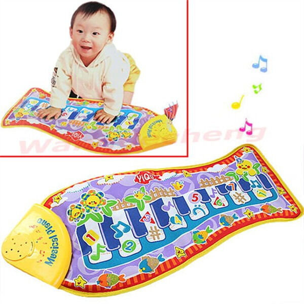 $9.89 - Fish Animal Music Mat Touch Kick Play Fun Baby Piano Toys for Kid Child's Gift