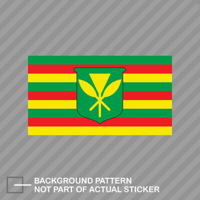 Kanaka Maoli Flag Sticker Die Cut Decal native hawaiian flag hawaii aloha state ()