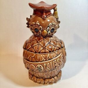 Vintage Owl Cookie Jar with Grad cap Made in Japan Collectible  Moose Jaw Regina Area image 1