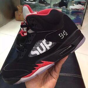 Brand new Size 10 black supreme Jordan 5s
