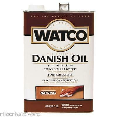 (2 Gal Golden Oak Watco Interior Wood Furniture Cabinet Danish Oil Finish 65131)