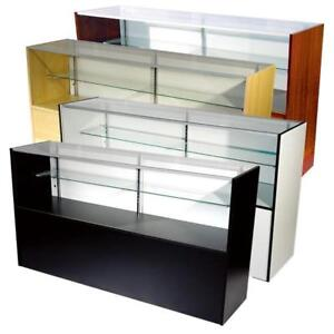 Glass Display Showcase Cabinet-Cash Register Counter
