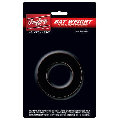 BASEBALL BAT WEIGHT ~ Rawlings 16 Ounce Black Donut Doughnut Style ~ Brand (16 Ounce Bat Weight)