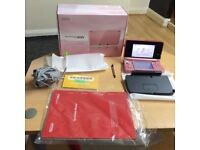 Coral pink Nintendo 3DS boxed