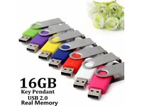 Random Color Portable Key Pendant 16G Flash Pen Drive USB 2.0 Memory Stick Storage Thumb U Disk