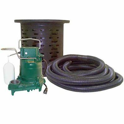Zoeller 108-0001 - 310 Hp Cast Iron Crawl Space Pump System W 24 Hose Kit