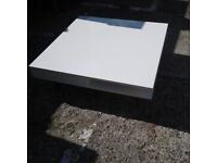 White Square Coffee Table with Drawer