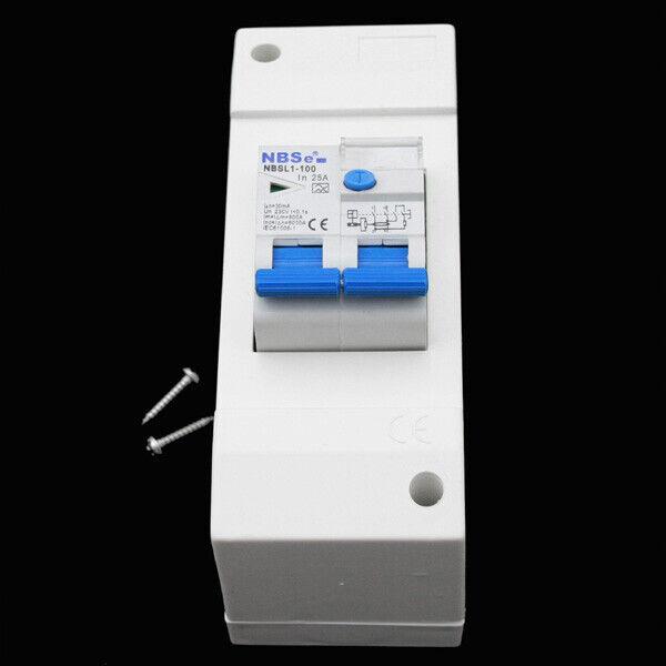 Sicherungskasten FI Schalter Sicherungsautomat 30 mA Wohnwagen Wohnmobil 220V