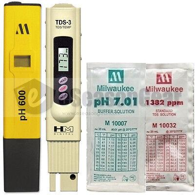 Ph600 Tds-3 Ph 7 1382 Ppm Combo - Milwaukee Hm Digital Metersolution