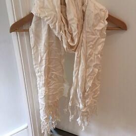 Pashmina white 100% cashmere