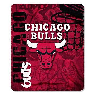 Chicago Bulls Fleece Throw Blanket 50 X 60 inches NBA Licenced Product