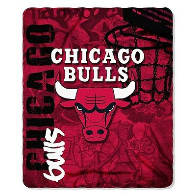 Chicago Bulls Fleece Throw Blanket 50 X 60 inches NBA Licenced Product