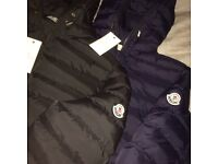 Moncler Black And Navy Puffer Jackets M L XL