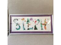 """Hand painted """"Steph"""" frame"""