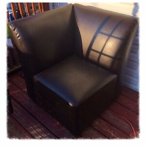 Corner Faux leather chair