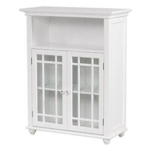 White Storage Cabinet in Cupboards and Curio Cabinets | eBay