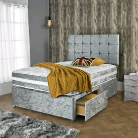 MAGNIFICENT DIVAN bed set with luxury mattress and FREE MATCHING HEADB