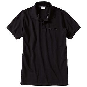 porsche men 39 s classic black polo shirt with script logo ebay. Black Bedroom Furniture Sets. Home Design Ideas