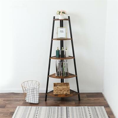 Industrial Corner Ladder Shelf 5tier Bookcase A-shaped Utility Display Organizer