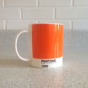Pantone Universe 1505 Orange Mug Tasse Bone China