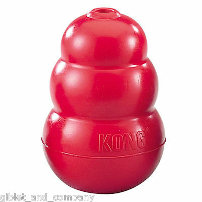 (CLASSIC KONG DOG TOY - Rubber Interactive Treat Dispensing Tough Durable Dog Toy)