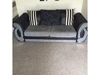 Black grey sofa looking for swap