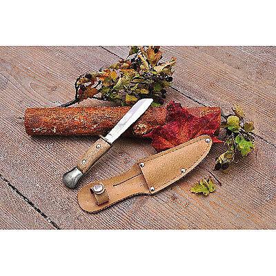 Kinderschnitzmesser mit Holzgriff, Spitze abgerundet, Schnitzmesser