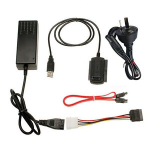 USB 2 0 TO IDE Sata 2 5 3 5 Hard Drive HDD Reader Adapter ...