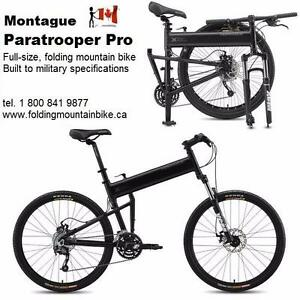 New Full-size  Folding  Mountain Bike by Montague - quality built to military specs - with ebike conversion option