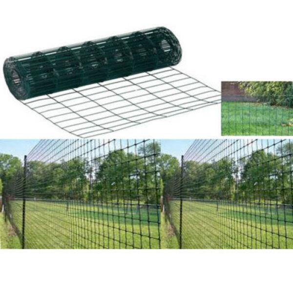 Heavy duty m garden green pvc coated border steel