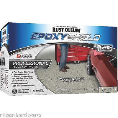 RustOleum EPOXYSHIELD Silver-Gray Industrial Garage Floor Coating Kit 203373