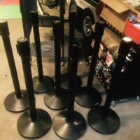 8 stanchion posts for sale bars, real estate, events, lines