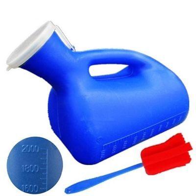 MASCHILE portatile Toilette URINA orinatoio pipì BOTTGLIA con Clean spazzola