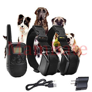 Rechargeable Waterproof LCD 100LV Level 2 Shock Vibra Remote Dog Training Collar
