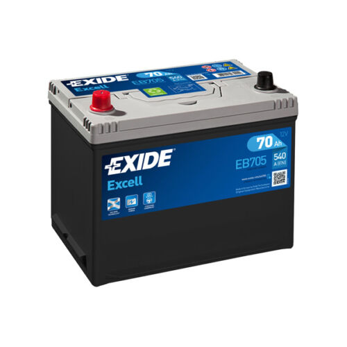1x Exide Excell 70Ah 540CCA 12v Type 031 Car Battery 3 Year Warranty - EB705