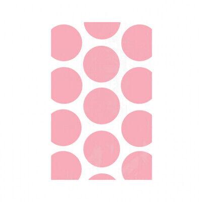 Candy Buffet Light Pink Polka Dot Paper Treat Bags x 10