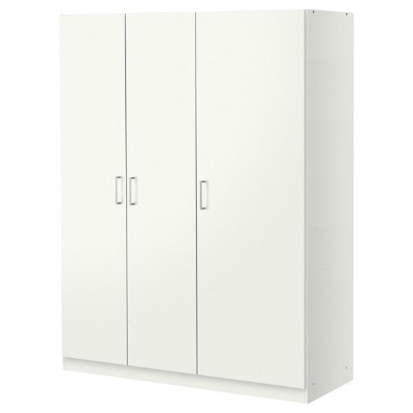 ikea dombas 3 door wardrobe white in angel london. Black Bedroom Furniture Sets. Home Design Ideas