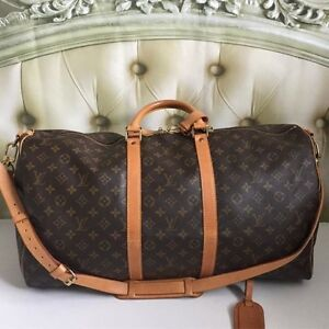 Authentic Louis Vuitton Keepall 55 Bandouliere Travel Bag Unisex Hampton Bayside Area Preview